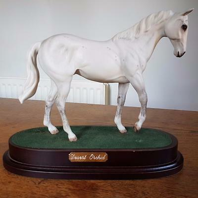 Royal Doulton horse figure -Desert Orchid White Dapple on Plinth horse racing