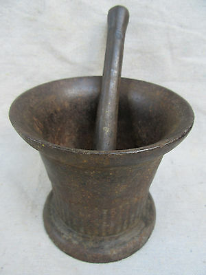 Vintage Cast Iron Mortar And Pestle