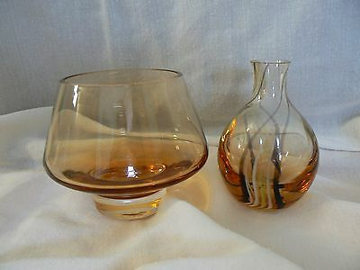 Caithness Glass Stroma Bowl and Bud Vase