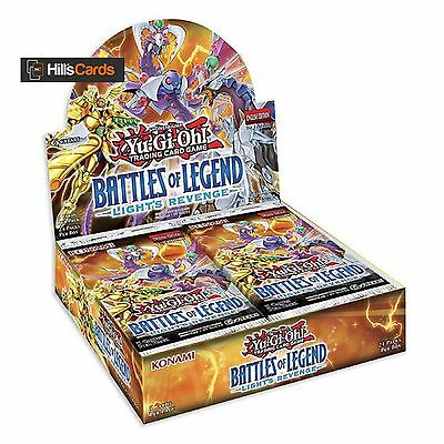 YuGiOh Battles of Legend Light's Revenge Sealed Booster Box 24 Packs TCG Minerva