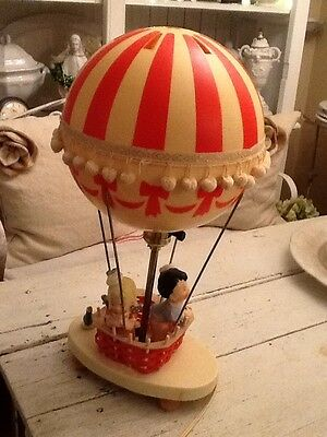 Vintage 70s Dolly Toy Hot Air Balloon Childrens Nursery Lamp & Night Light NICE