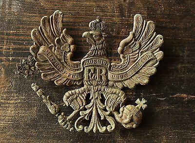 Original WW1 Battl. Relic German Prussian Pickelhaube Helmet Plate / Wappen