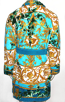 Versace Gold Ivy Barocco Bathrobe Bath Robe