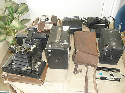 job lot old cameras and lenses