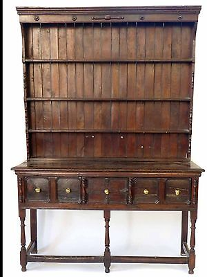 18Th Century English Oak Dresser And Rack