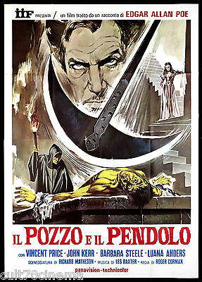 Il Pozzo E Il Pendolo Manifesto Cinema Corman Price Film Horror Movie Poster 4F