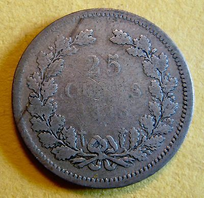 Netherlands 1848 25 Cents SILVER