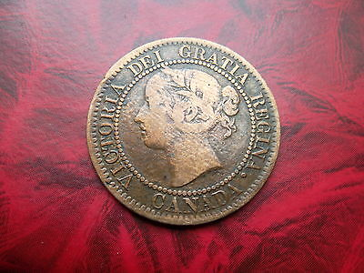 QUEEN VICTORIA CANADA 1859 ONE CENT  to collect.