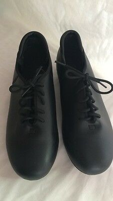 Theatrical Dance Tap Shoes Women's Us Size 5 1/2 5.5 Black Style T9500 Laceup