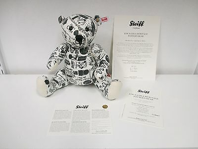 STEIFF Limited Edition Coca-Cola Heritage Pattern Bear - New with Papers