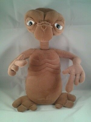 "RARE ET E.T. Toy 14"" Plush Talking Light Up Heart & Finger Universal Studios"