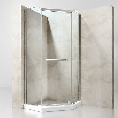 Durovin Modern Pentagonal Shower Cubicle Enclosure 900mm Clear NANO Safety Glass