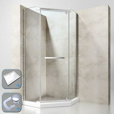 Minimalist Shower Enclosure Cubicle Glass NANO Easy Clean 900mm Acrylic Tray New