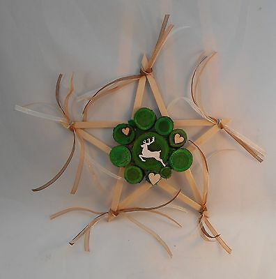 Pagan Wicca Druid Handmade by LM Altar Ritual Pentagram of the Stag Lord