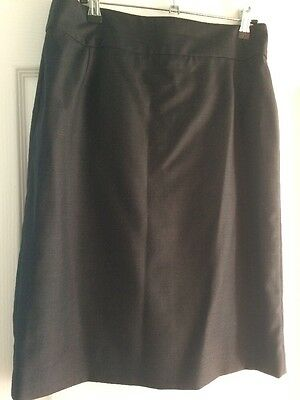 T M Lewin Grey Wool&cashmere Mix skirt Size 8 Nwot