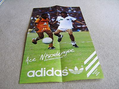 1980's Adidas poster featuring Ace Ntsoelengoe of the Kaizer Chiefs South Africa