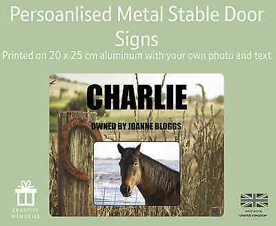 Horse Pony Stable Stall Personalised Metal Door Sign Name Plate Plaque