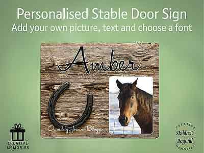 Horse Pony Stable Personalised Aluminium Metal Door Sign Name Plate Plaque Large
