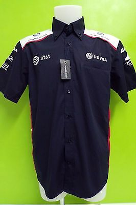 Williams F1 Team Issue Sponser Shortsleeve Race Shirt Mens Large