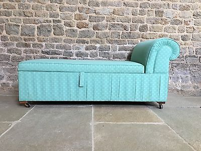 Vintage Antique Chaise Longue Daybed, ottoman trunk. Osborne & Little fabric