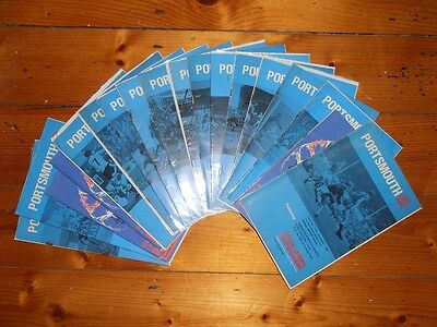 1969-70 PORTSMOUTH FC - HOME FOOTBALL PROGRAMMES - Your choice - FREE Postage