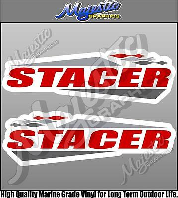 STACER - 450mm x 140mm X 2 - BOAT DECALS
