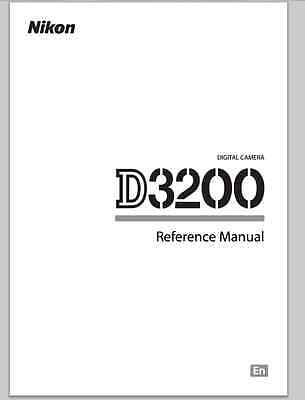 BRAND NEW NIKON D3200 Reference Manual - English pocket size