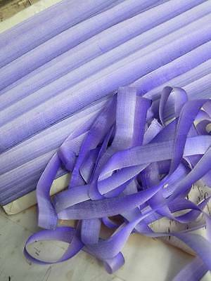50 metres antique French pure silk taffeta ombree ribbon ribbonwork embroidery A