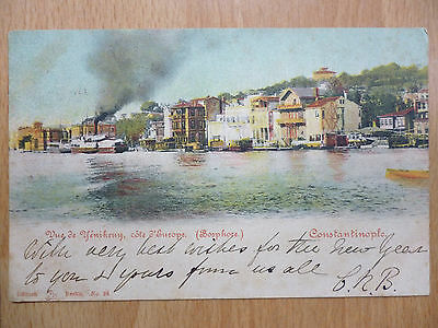 1905 Constantinople Turkey Postcard Postmarked British Post Office