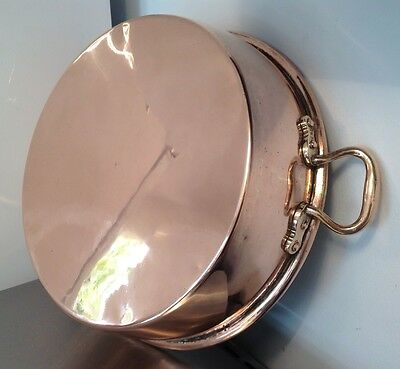 STUNNING LARGE VICTORIAN Copper Jam Making Pan Preserving ICE BUCKET Heavy 4KG