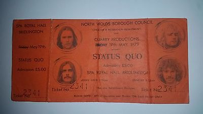 Status Quo Ultra Rare Unused Picture Concert Ticket Cant Stand Heat Tour 1979