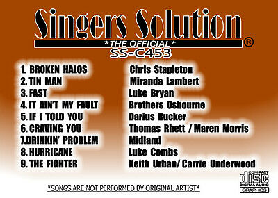 Singers Solution NEW COUNTRY #453-#452-#451 +#450 Karaoke  CDG  36-SONGS-TIN MAN