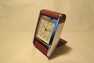 Vintage Jaeger Folding Travel Alarm Clock (Good Working Order)