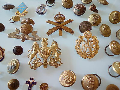 military x 37 badges buttons  job lot..