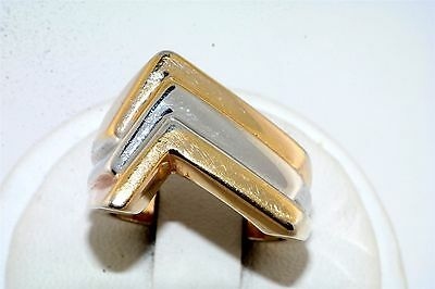 Contemporary 18k GE Two Tone Ring