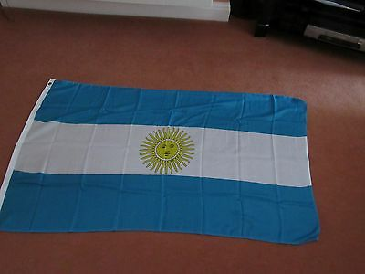 Argentina FLAG 5FT X 3FT WITH TWO METAL EYELETS