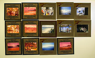 LOT of 35mm slides - 1959 Honolulu Hawaii - beach, landscape, people, Lanai
