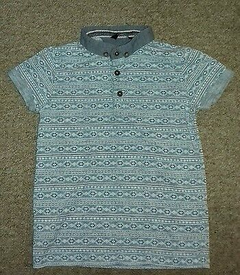 Boys Blue Polo Shirt Top George Age  5-6 Years