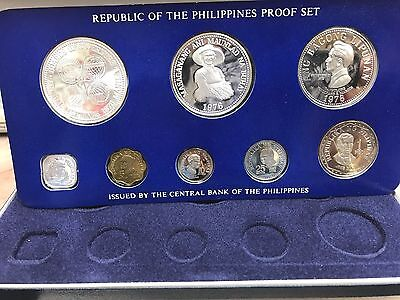 1976 REPUBLIC OF THE PHILIPPINES   Proof Set Franklin Mint - w/ COA & PAPERS