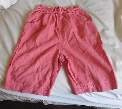 Girls Cotton Shorts - Marks & Spencer - Age 9/10 - Coral -  c 1992
