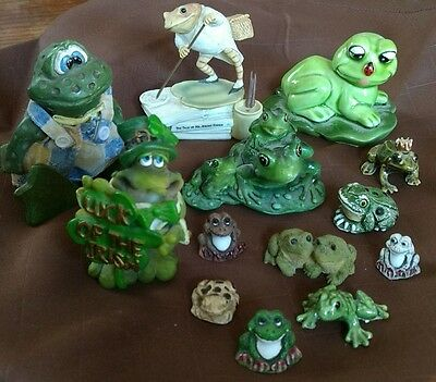 Frog Figurine Lot of 13