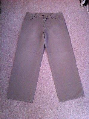 Men's Genuine Dockers Trousers 34W 32L Beige Looser fit - very comfortable