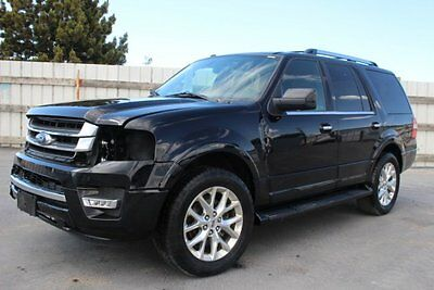 2016 Ford Expedition Limited 4WD 2016 Ford Expedition Limited 4WD Damaged Salvage Loaded w Options PerfectProject