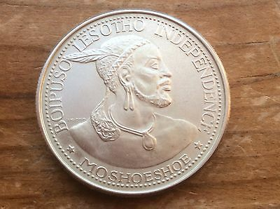 1966 Lesotho 50 Licente Silver Coin Sharp Details