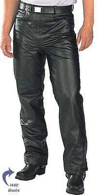 Xelement 7400 Mens Classic Fitted Cowhide Leather motorcycle Biker Casual Pants