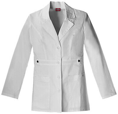 "Dickies Gen Flex 82408 Women's 28"" ""Youtility"" Lab Coat Medical Uniforms Scrubs"