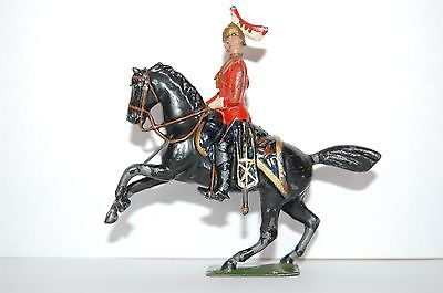 Vintage Britains Lead Mounted Dragoon Officer