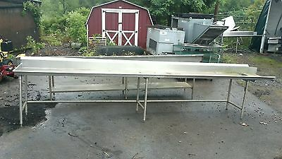 16' Left Side Clean Dish table Commercial Heavy Duty S/S Dishtable
