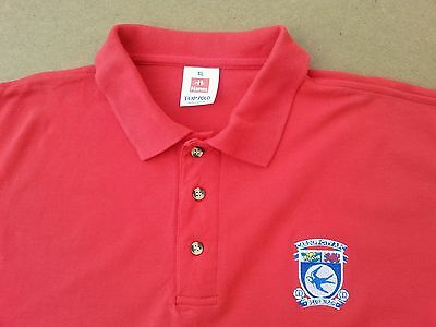 Cardiff City FC Polo Shirt Old Badge XL Bluebirds Wales Football Excellent Cond.