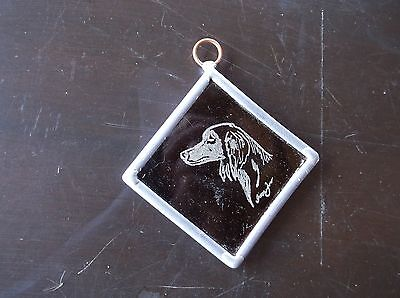 Saluki- Hand engraved Medallion  by Ingrid Jonsson